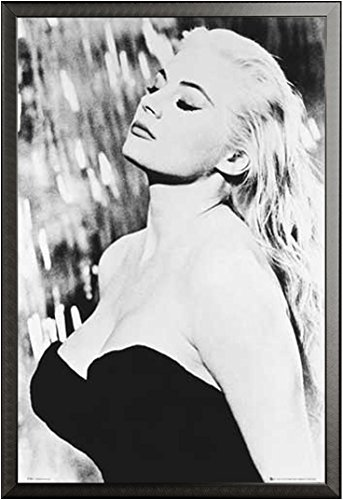 Dolce Vita, La - Poster - Anita Ekberg Version 2 + Wechselrahmen der Marke Shinsuke® Maxi aus edlem Aluminium (ALU) Profil: 30mm schwarz