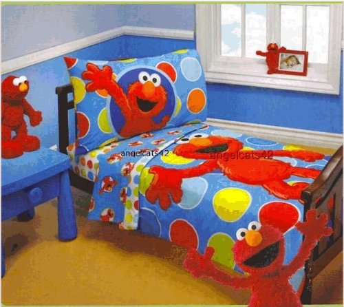 buy cheap sesame street elmo 4 piece toddler bedding set crown