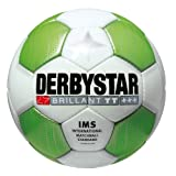 DERBYSTAR Fu�ball BRILLANT TT, weiss/gr�n, Gr. 5