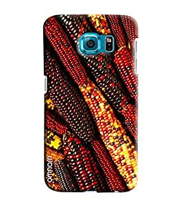 Omnam Full Corn Of Red And Yellow Color Effect Printed Designer Back Cover Case For Samsung Galaxy S6