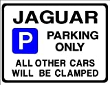JAGUAR Car Parking Sign Gift for s e type x xj xk v8 v6 3.0 models - Size Large 205 x 270mm by Custom (Made in UK) (All fixing included)