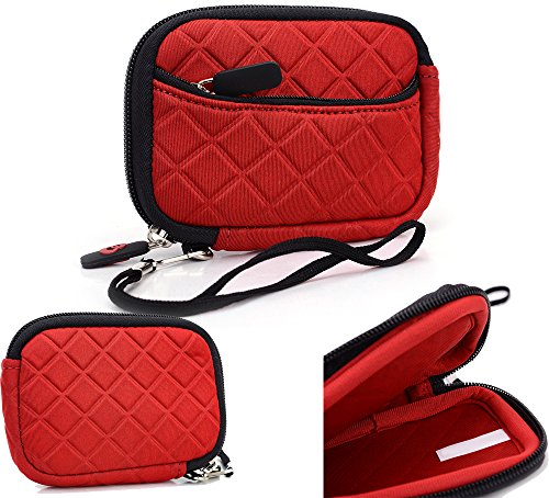 Red: Universal Pouch Cover | Canon Powershot Elph 510 Hs| Elph 520 Hs| Elph 530 Hs| Sd1000