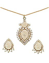 22.10 Grams Pearl Gold Plated Pendant Set