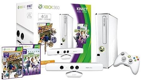 Xbox 360 4GB + Kinect スペシャル エディション (ピュア ホワイト)
