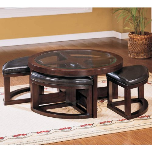 Coffee table with seating underneath for Coffee table with stools underneath