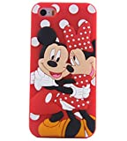 JBG Cute Lovely Cartoon Shadow Soft Silicone Rubber Back Case Cover Skin / For iPhone 5 5S Minnie and Mickey
