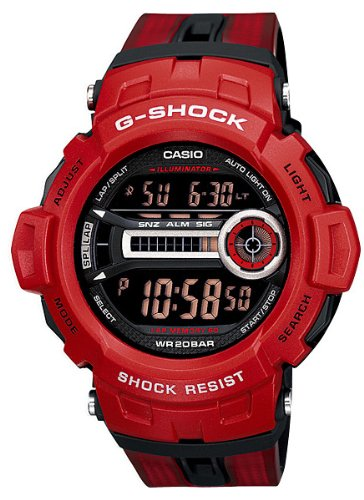 Casio Men's G-Shock GD200-4 Red Resin Quartz Watch with Black Dial