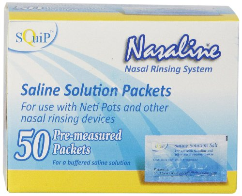 Squip Nasaline Salt-box Of 50 Pre-measured Packets,