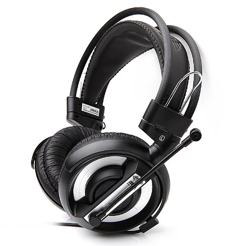 E-3Lue Cobra Gaming Headset Wired Stereo Headset Earphone Earpiece Mic 3.5Mm, Black