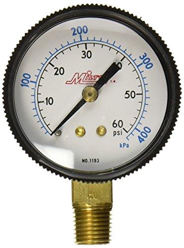 """Milton 1193 1/4"""" NPT Pressure Gage"""