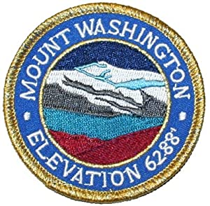 Mount Washington Travel Souvenir Iron On Patch