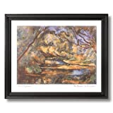Paul Cezanne French Lake Trees Tuscan Landscape Home Decor Wall Picture Black Framed Art Print