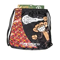 Flow Society Authentic Lacrosse Gear Drawstring Backpack Red Rasta Monkey Banana Onesize