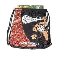 Flow Society Authentic Lacrosse Gear Drawstring Backpack Red Rasta Monkey Banana Onesize