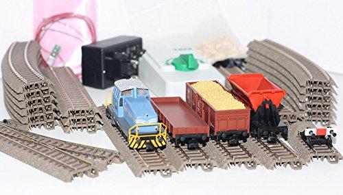 Trix-H0-21523-Startpackung-Bauzug-mit-Diesellok-DHG-500-3-Gterwagen