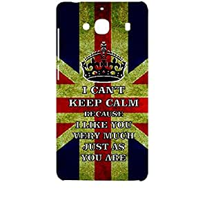 Skin4gadgets I CAN'T KEEP CALM BECAUSE I Like You Very Much Just As You Are - Colour - UK Flag Phone Designer CASE for XIAOMI REDMI 2