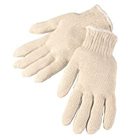 Liberty+Glove+%26+Safety Liberty 4517C Cotton Mediumweight String Knit Glove, Medium, Natural White (Pack of 12)