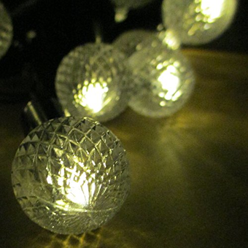 Globe String Lights Solar : E-Light Warm White Globe String Lights Solar Powered 30 LED Christmas Lights New eBay