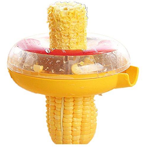 Yafeco New Corn Threshing Stripping Round Corn Stripper Thresher Kitchen Utensil Tool (Color: Yellow) (Corn Threshing Machine compare prices)