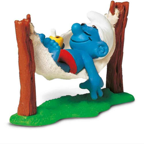 Schleich Super Smurf in Hammock Figurine - 1