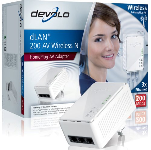 Devolo 1408 dLAN 200 AV Wireless-N HomePlug Adapter