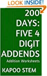 200 Days Math Addition Series: Five 4...