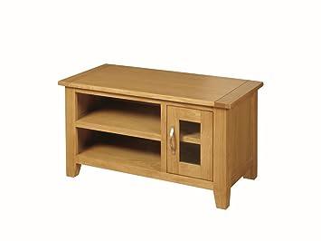 Edmonton Petit meuble TV en chêne avec 1porte-Petit meuble TV Plasma chêne-Finition: Chêne-Salon