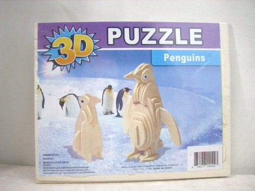 3D Penguins Wood Puzzle