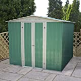 8 x 6 Apex Metal Shed, garden shed, storage, metal store with double doors from Buttercup Farm