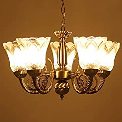 Prop It Up Antique Design Brass Chandelier - 5 Lamps (38cmX38cmX25cm)