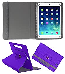 Acm Designer Rotating Case For Apple Ipad Mini 3 Stand Cover Purple