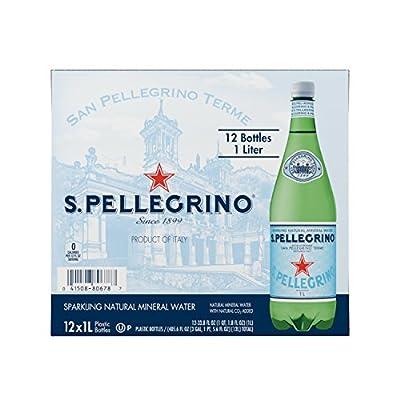 San Pellegrino Sparkling Natural Mineral Water, 33.8-ounce plastic bottles (Pack of 12) from San Pellegrino