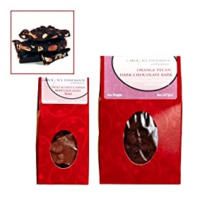 Gourmet Dark Chocolate Jalaprika Cashew Bark Red Roof Top Gift Box 3oz from Carolyn's Handmade