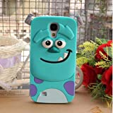 Lovestal Cute Cartoon Sulley Tigger Marie Ponycat Slinky Dog Spin 3D Disney Monster University Animals Soft Silicone Back Cases Covers for Samsung S4 I9500 (Blue Monster) + 1psc Lovestal Wristband