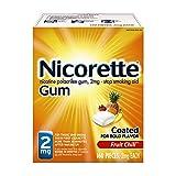 Nicorette Nicotine Gum to Stop Smoking, 2mg, Fruit Chill, 160 Count
