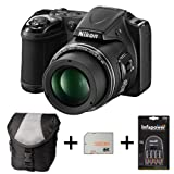 Nikon Coolpix L820 - Black + Case + 32GB Memory Card + Battery and Charger (16 MP, 30x Optical Zoom) 3 inch LCD