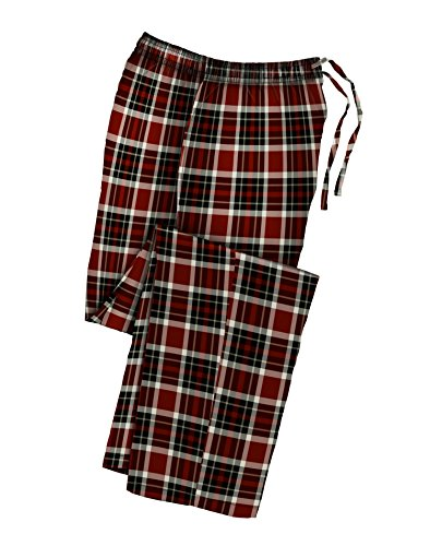 Hanes Men`s Flannel Pants with Comfort Flex Waistband, 02006/02006X, Red Black Plaid, 4XL