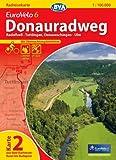 BVA-Radreisekarte Eurovelo 6 Karte 02 Donauradweg 1 : 100 000: Radolfzell - Tuttlingen, Donaueschingen - Ulm. Mit Übernachtungsbetrieben. GPS-Tracks