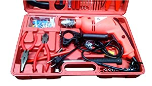 Drill machine 500 watt with speed regulator,hammer action & Reverse in a 105 pcs KIT BOX TOOLSVILLA EXCLUSIVE