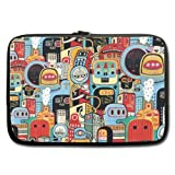 "Funky Robot House 11""Inches Sleeve For Macbook Pro"