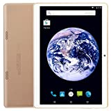 [FCC Certified] Pacific TECH Professional 9.6 inch Tablet PC with Android 5.1 Lollipop Phablet, HD IPS 1280x800 Display Wi-Fi Dual Sim Phone Bluetooth GPS Dual Camera, GSM Unlocked - Gold