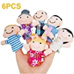 SWT 6 PCS Happy Family Member Finger...