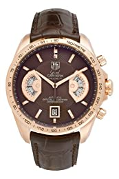 TAG Heuer Men s CAV514C FC8171 Grand Carrera Calibre 17 RS Automatic Chronograph White Dial Watch