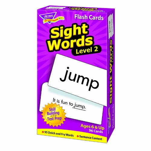 Level 2 Sight Words Skill Drill Flash Cards, Pack of 96 Card Game