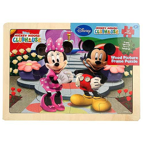 Cheap Mickey Mouse Mickey Mouse Clubhouse – Wood Picture Frame Puzzle [12 Pieces] (B0041OQW8K)
