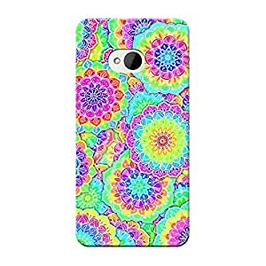 EYP Psychdelic Floral Pattern Back Cover Case for HTC One M7
