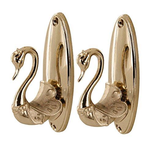 Swan Curtain Holdbacks / Tieback Hooks