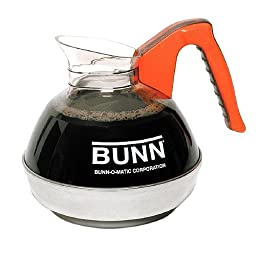 Bunn 6101 Easy Pour Commercial 12-Cup Decaf Coffee Decanter, Orange 1 ea(Pack of 1)