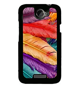 Multicolour Feathers 2D Hard Polycarbonate Designer Back Case Cover for HTC One X :: HTC One X+ :: HTC One X Plus :: HTC One XT