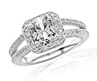 1.2 Carat Designer Split Shank Diamond Engagement Ring - Lesbian Engagement Ring